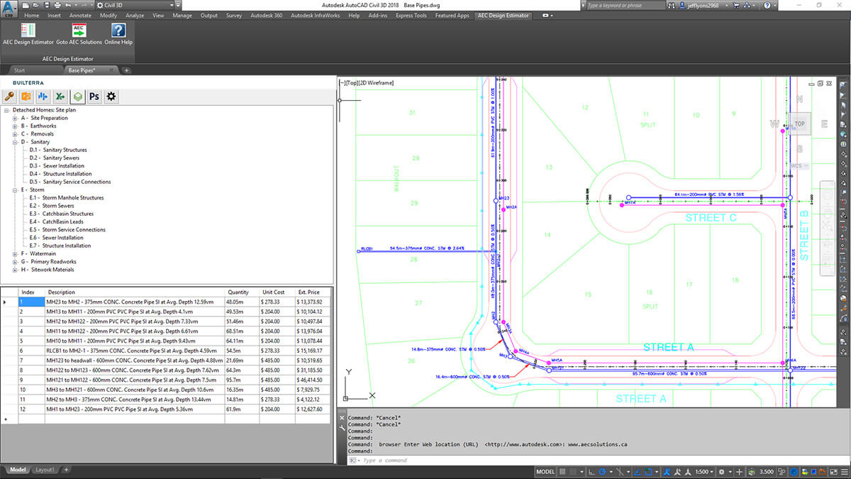 Instant Design Takeoffs and Real Time Cost Estimating
